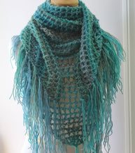 Load image into Gallery viewer, crochet pattern triangle scarf