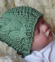 Load image into Gallery viewer, knitting pattern cable hat
