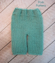Load image into Gallery viewer, knitting pattern chunky baby pants
