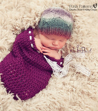 Load image into Gallery viewer, knitting pattern butterfly stitch hat