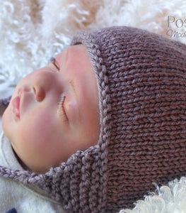 Knitting PATTERN - Knit Earflap Hat Pattern