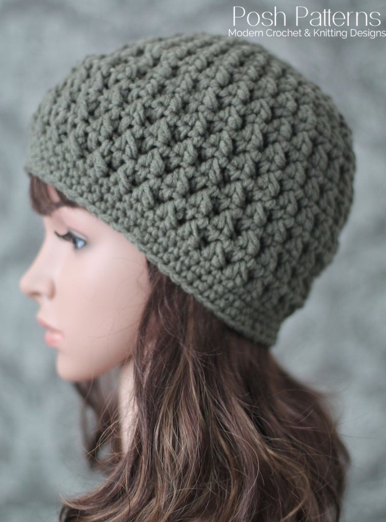 Crochet PATTERN - Textured Crochet Hat Pattern - Beanie