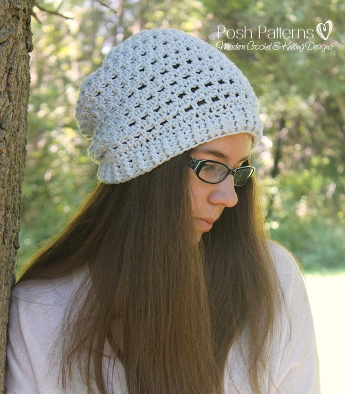 crochet pattern lace hat