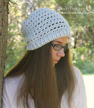 Load image into Gallery viewer, crochet pattern lace hat