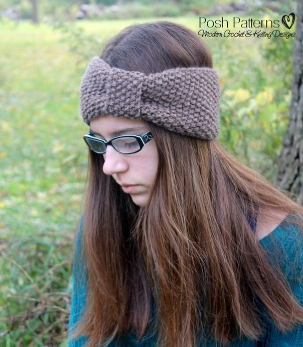 knitting pattern seed stitch headband