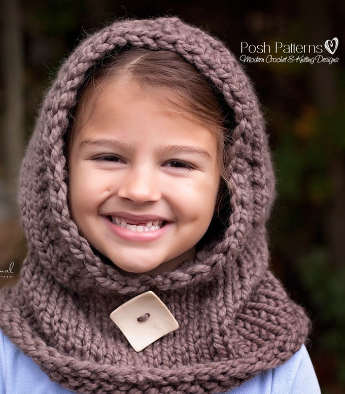 Knitting Pattern Knit Hooded Cowl Pattern
