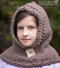 Load image into Gallery viewer, knit hood pattern