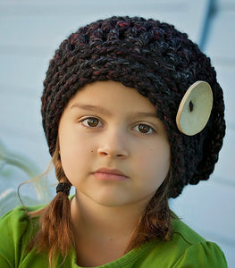 girls slouchy hat crochet pattern