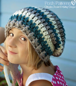 b8293249b29 Crochet PATTERN - Easy Slouchy Beanie Crochet Pattern – Posh Patterns