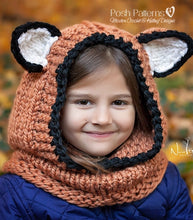 Load image into Gallery viewer, knitting pattern fox hood