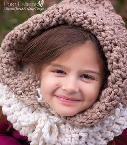 crochet pattern hooded cowl