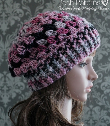 crochet slouchy hat pattern