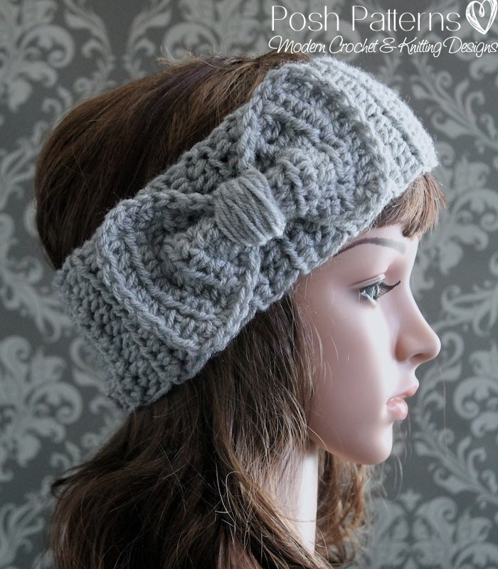 Crochet Pattern Crochet Bow Headband Pattern Cowl Posh Patterns