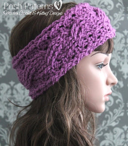 crochet cable headband pattern