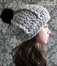 Load image into Gallery viewer, crochet chunky slouchy hat pattern