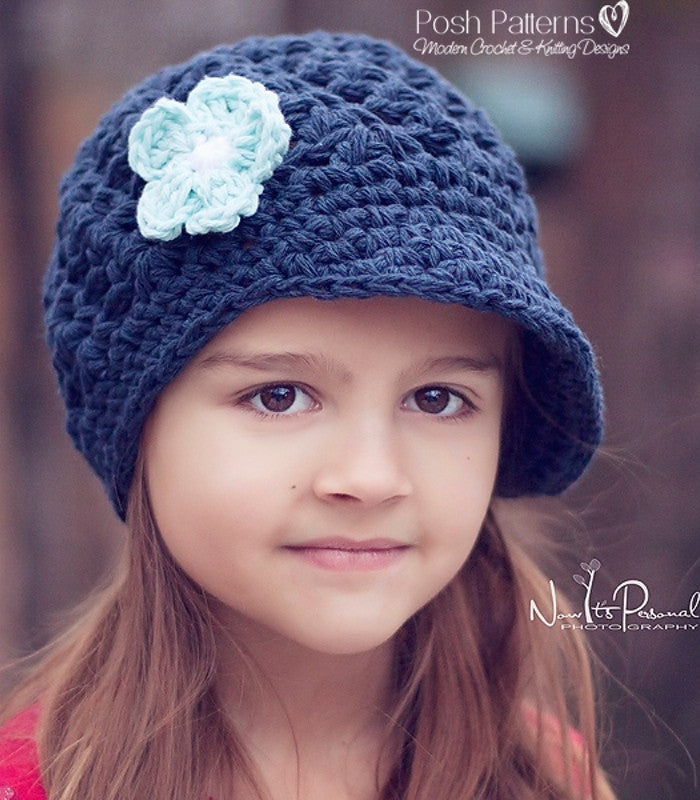 Crochet Pattern Elegant Shells Newsboy Hat Pattern