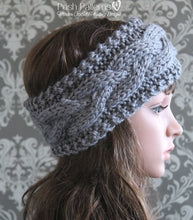 Load image into Gallery viewer, knit headband pattern cable