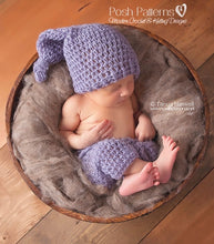 Load image into Gallery viewer, crochet pattern stocking hat baby pants