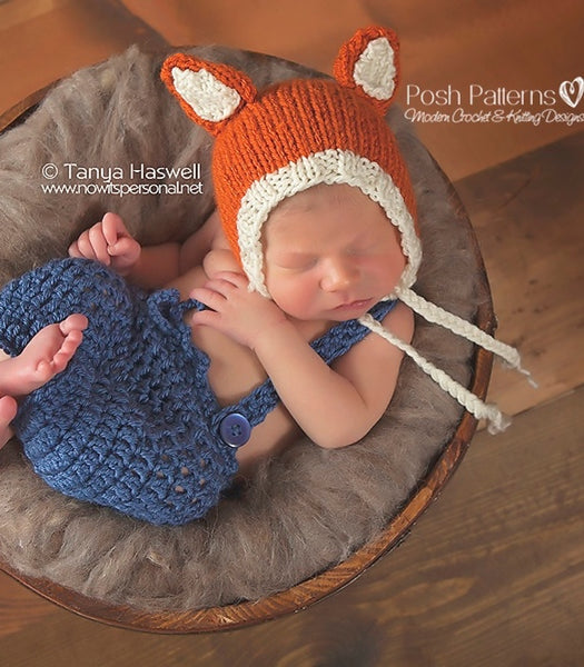 knitting pattern fox bonnet