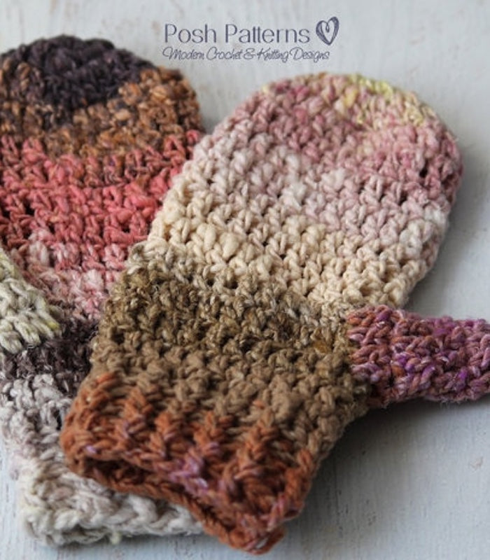 Crochet Pattern - Easy Crochet Mittens Pattern