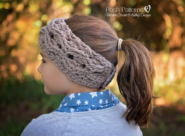 cable headband pattern