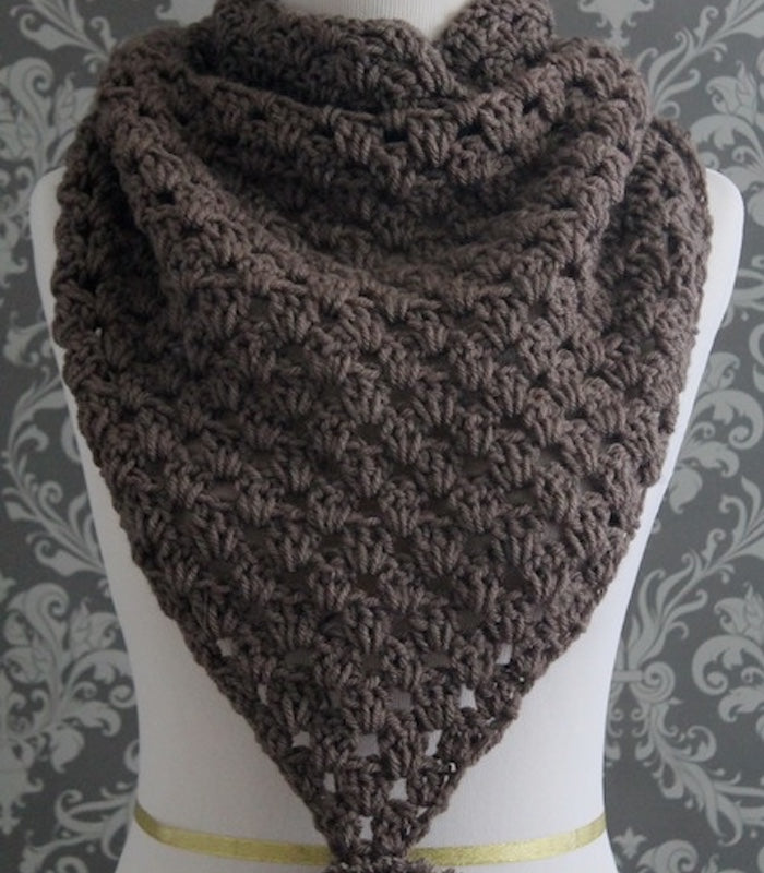 Crochet Pattern Crochet Triangle Scarf Pattern Cowl Posh Patterns
