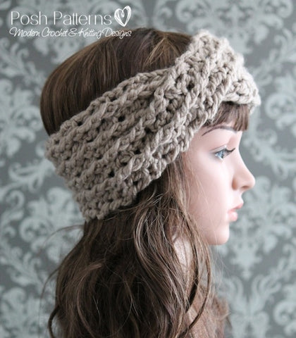 crochet turban headband pattern