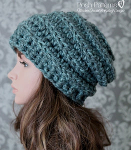 Chunky Crochet Hat Pattern Beehive Slouchy