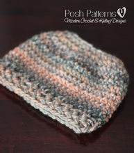 Load image into Gallery viewer, messy bun crochet hat pattern