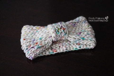 Knit Look Crochet Headband Pattern