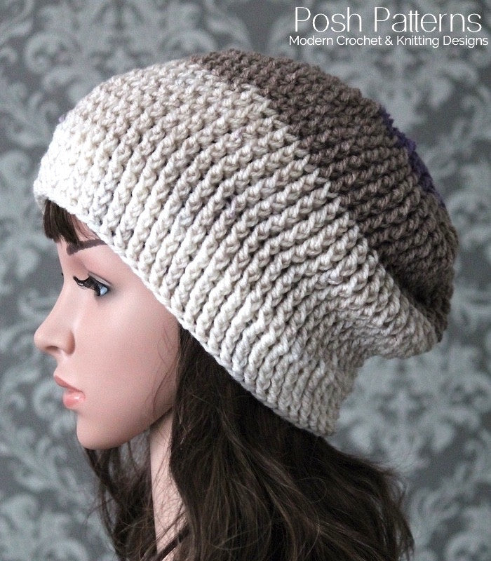 Elegant Ribbed Crochet Hat Pattern