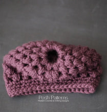 Load image into Gallery viewer, crochet ponytail hat pattern