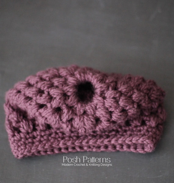 crochet ponytail hat pattern