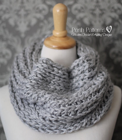 knit look cowl crochet pattern