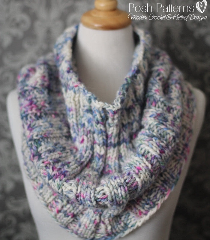 easy cowl knitting pattern