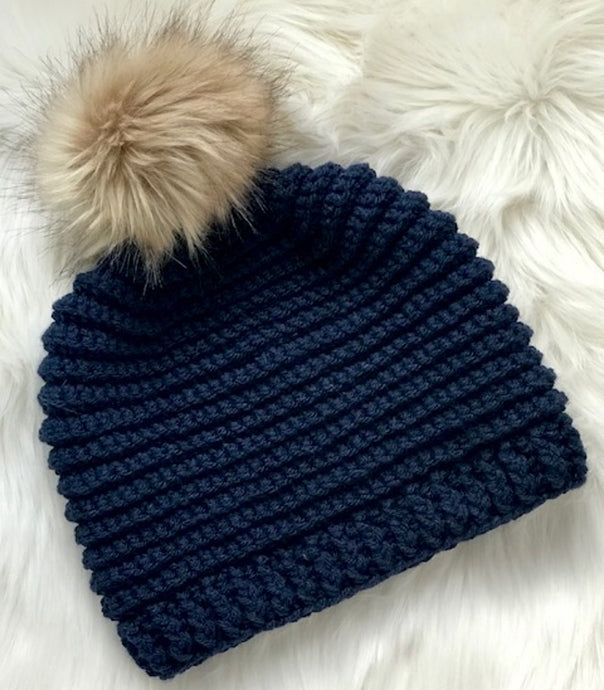 Knit Look Crochet Hat Pattern - Crochet Beanie Pattern