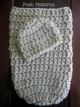 Load image into Gallery viewer, cocoon and hat crochet pattern