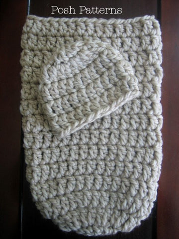 cocoon and hat crochet pattern