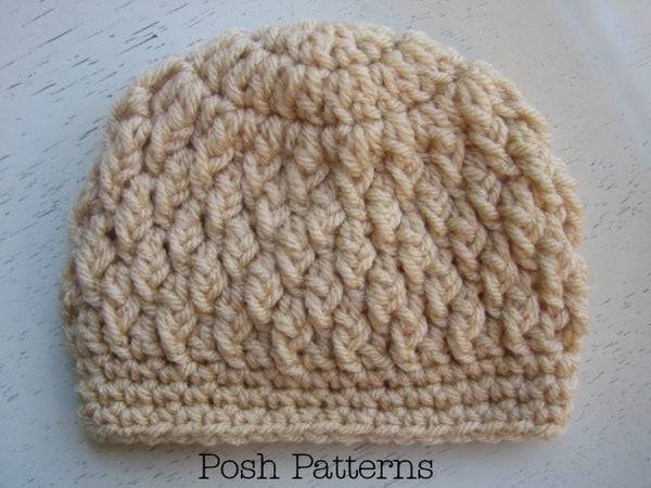 cable crochet beanie pattern