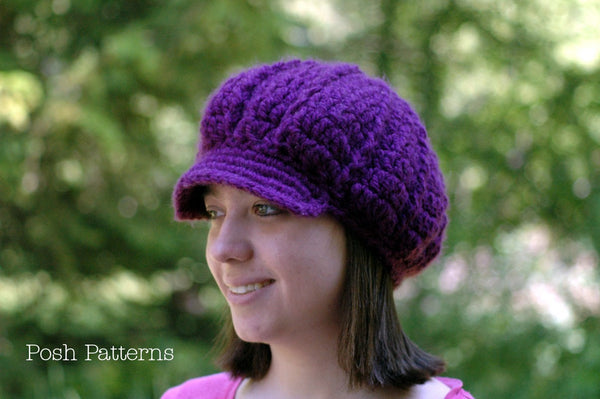 slouchy newsboy hat pattern