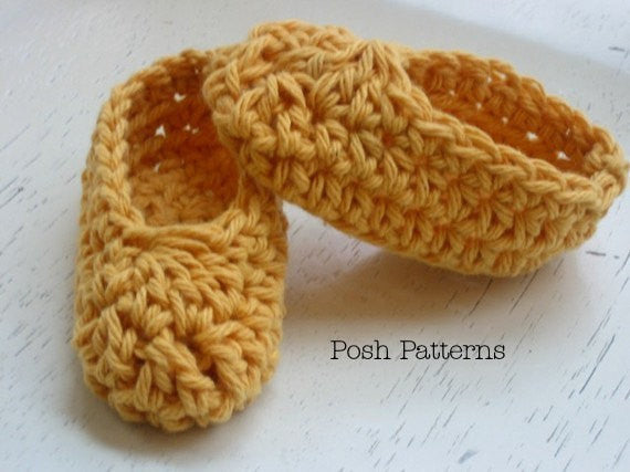 Crochet Pattern - Baby Booties Pattern - Crochet Slipper Pattern