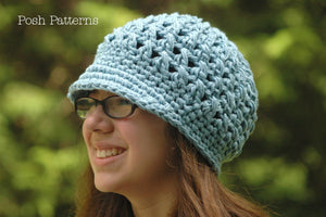 girls crochet newsboy hat pattern