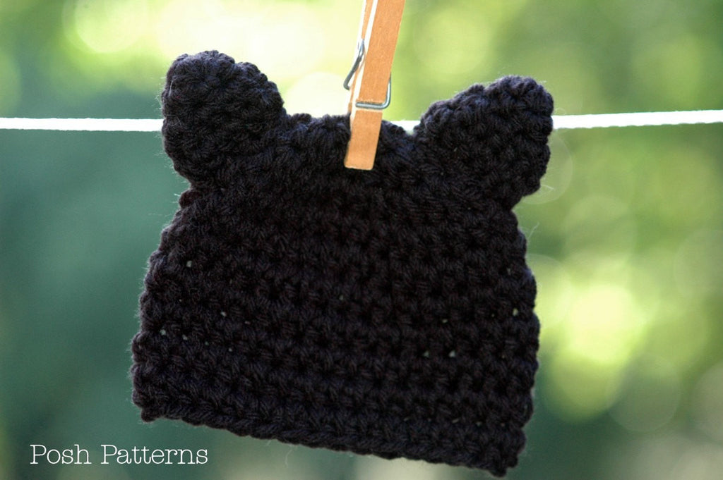 CROCHET PATTERN - Crochet Kitty Cat Hat Pattern