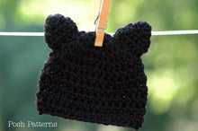 Load image into Gallery viewer, crochet kitty cat hat pattern