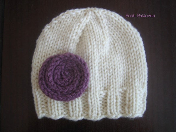 Easy Knitting Ideas For Adults : Knitting pattern beginner knit beanie