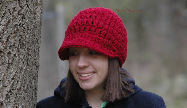 chunky newsboy hat crochet pattern