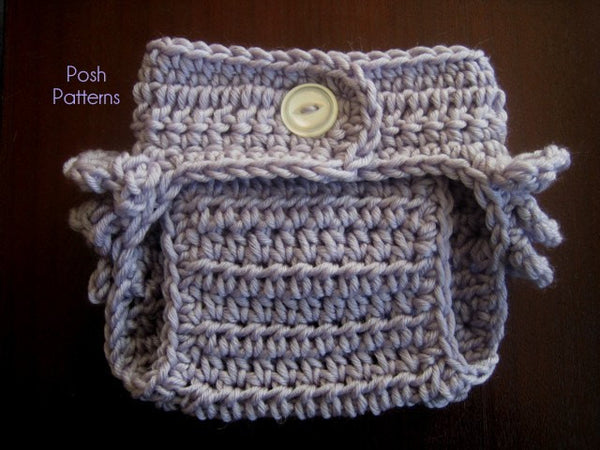 Crochet PATTERN - Ruffle Bottom Crochet Diaper Cover Pattern