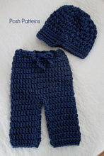 Load image into Gallery viewer, Crochet PATTERN - Crochet Newsboy Hat and Baby Pants Pattern