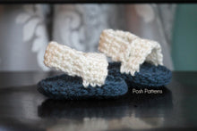 Load image into Gallery viewer, Crochet PATTERN - Crochet Patterns for Baby Sandals