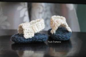 Crochet PATTERN - Crochet Patterns for Baby Sandals